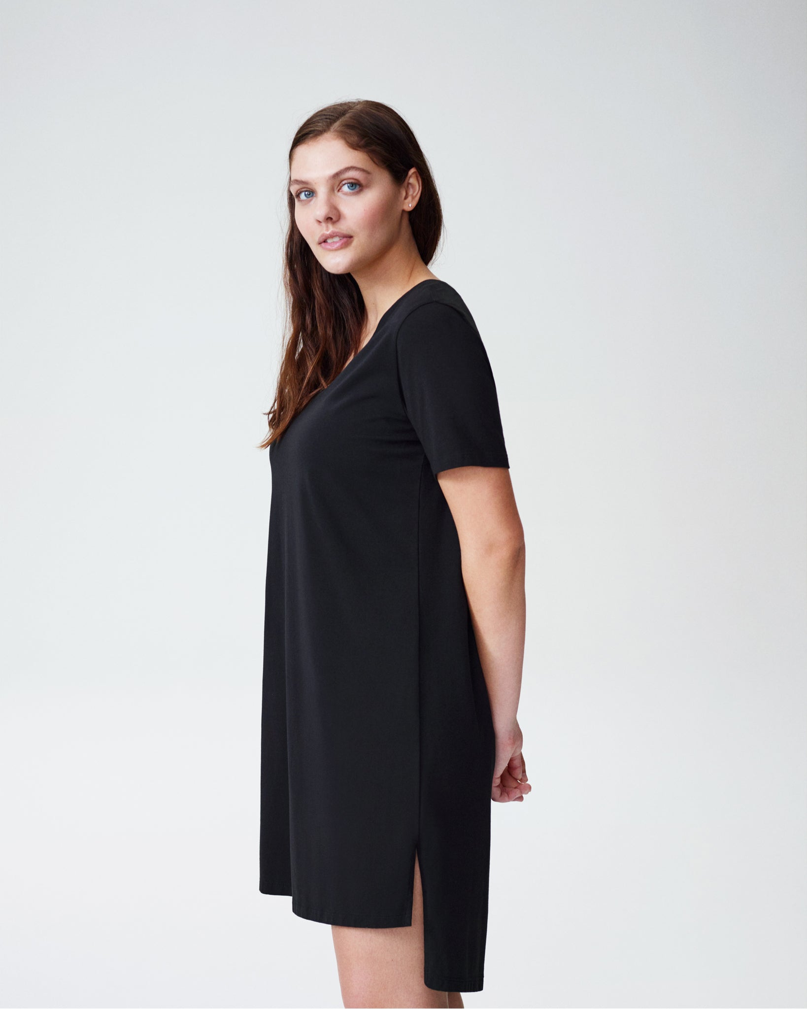 Tesino Washed Jersey Dress - Black