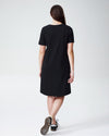Tesino Washed Jersey Dress - Black Image Thumbnmail #4
