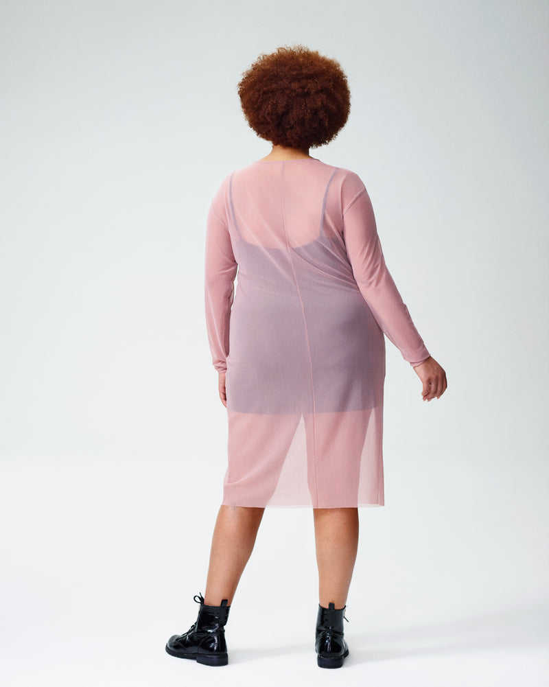 Thames Fog Dress - Rose