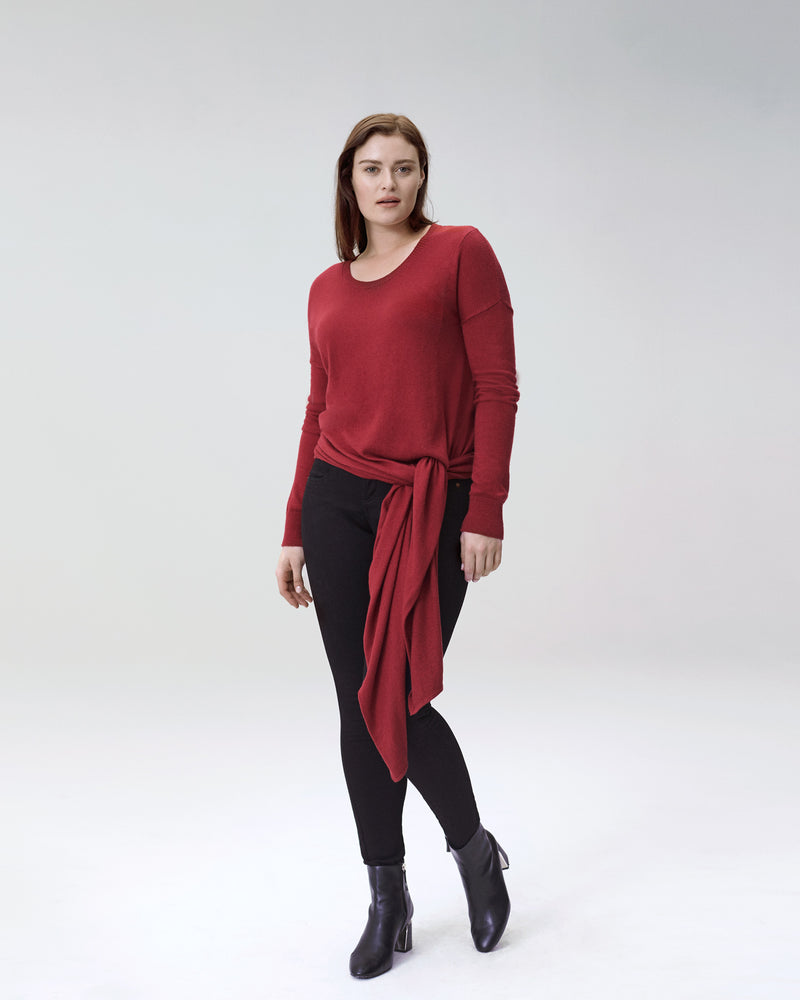 Arenal Front Tie Sweater - Sienna