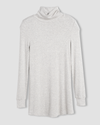 Foundation Turtleneck - Heather Grey Image Thumbnmail #5