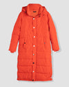 Everest Long Hooded Puffer - Electric Orange Image Thumbnmail #2