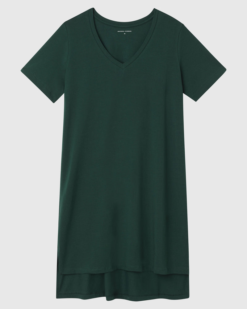 Tesino Washed Jersey Dress - Forest Green