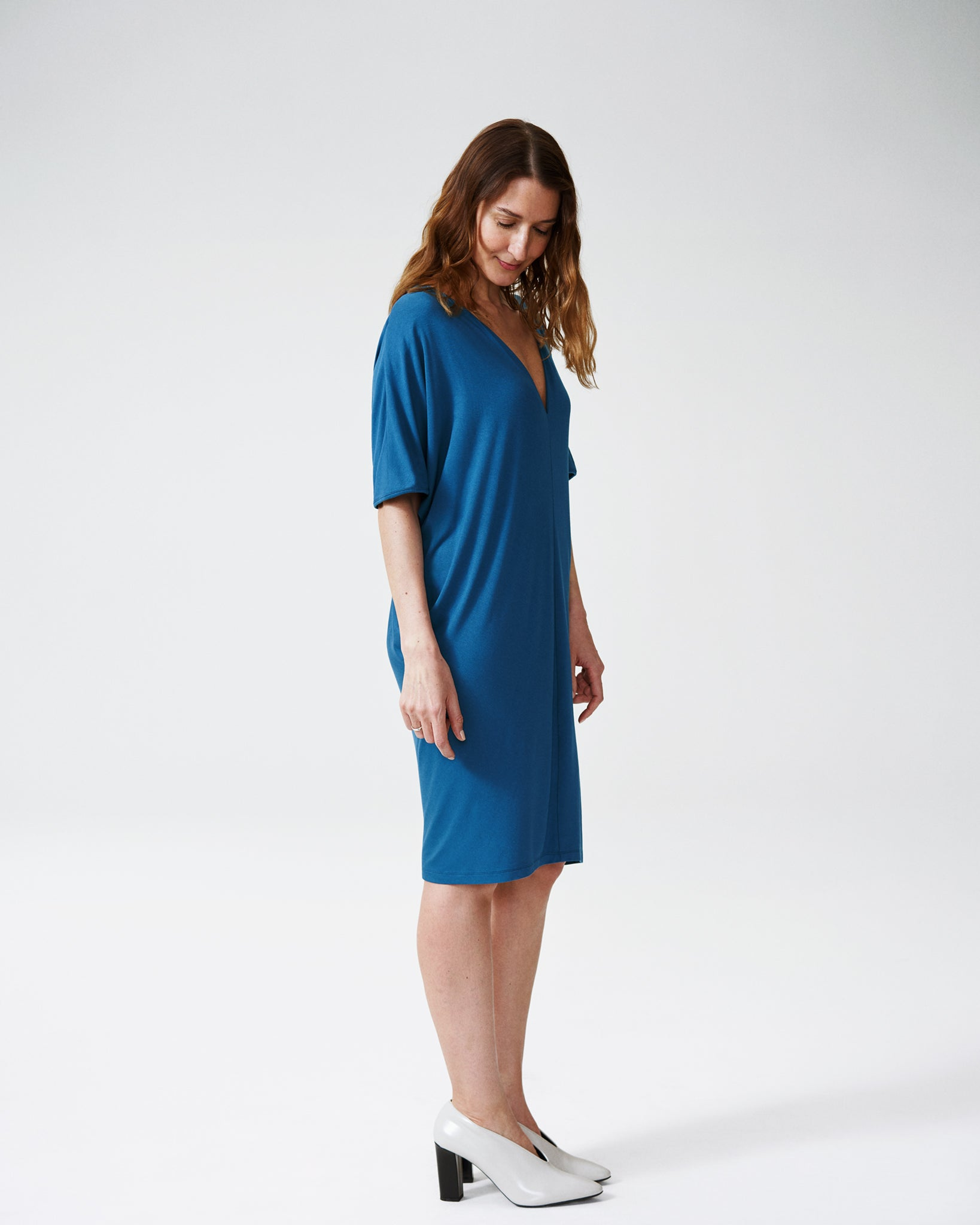 Teresa V-Neck Dress - Teal