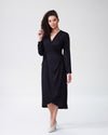 Rivers Wrap Dress - BlackImage #1