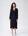 Rivers Wrap Dress - BlackImage #2