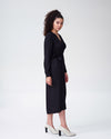 Rivers Wrap Dress - BlackImage #3