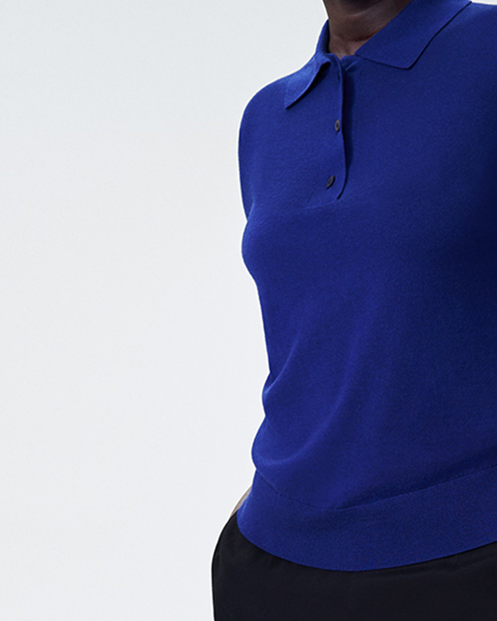 Addison Sweater Polo - Royal Blue