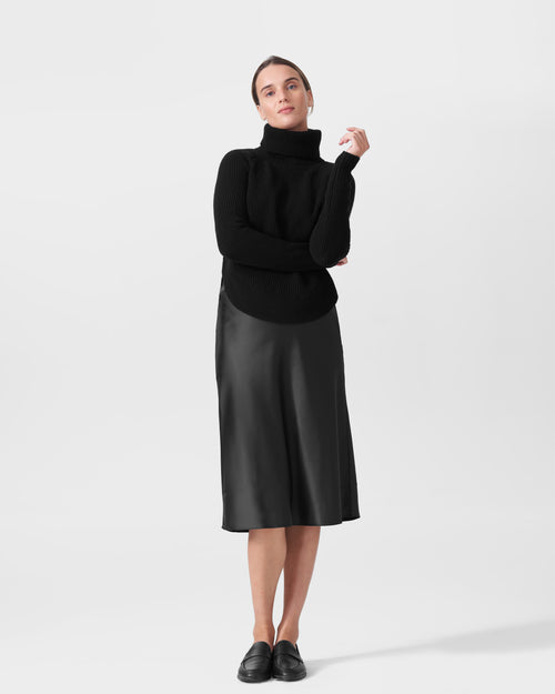 Nicole Cashmere Blend Turtleneck Sweater - Black