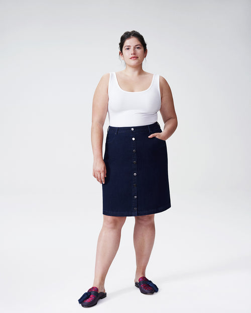 Ang Denim Skirt - Dark Indigo