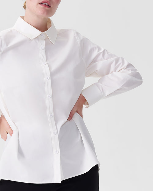 Canna Hi-Low Shirt - White