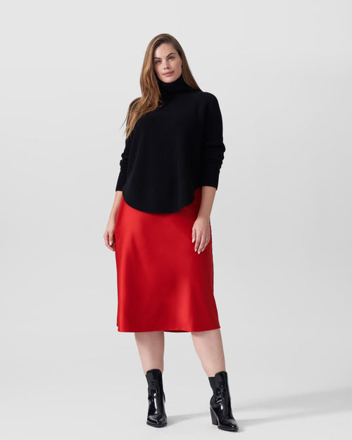 CeeCee Midi Bias Skirt - Red