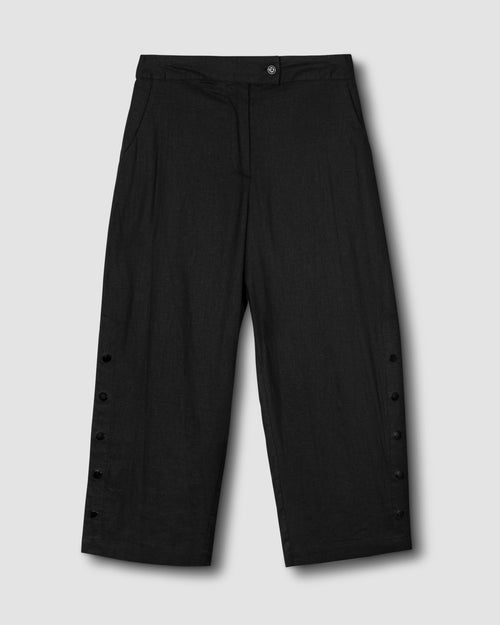Chris Linen Pants - Black