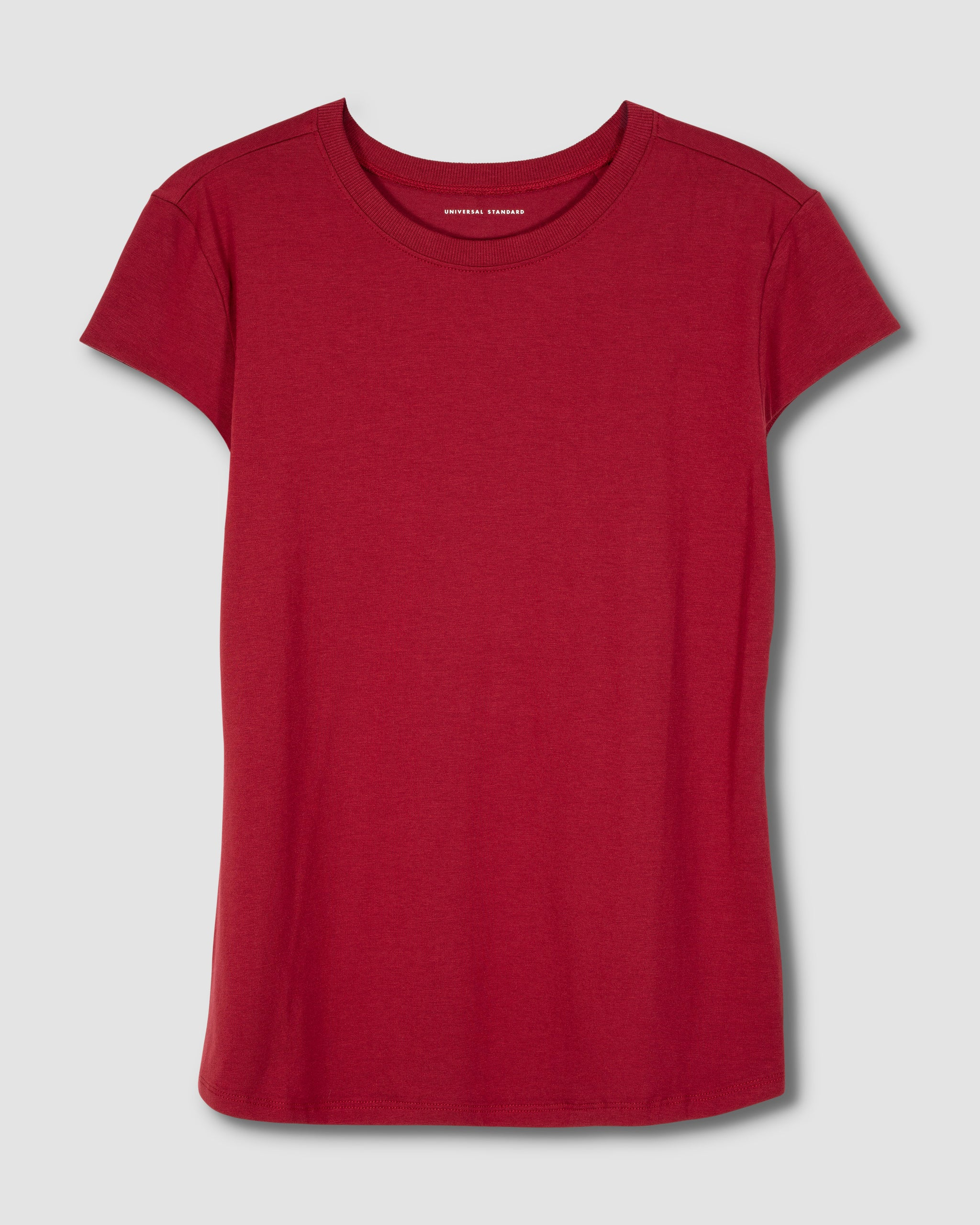 Ashley Cap Sleeve Tee - Red Dahlia