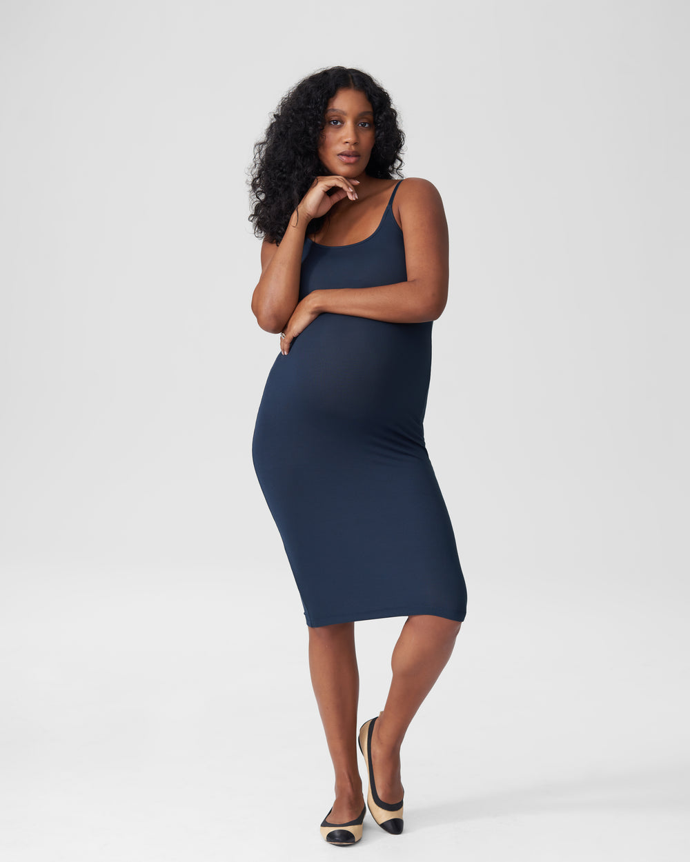 Foundation Cami Dress Mom - Navy