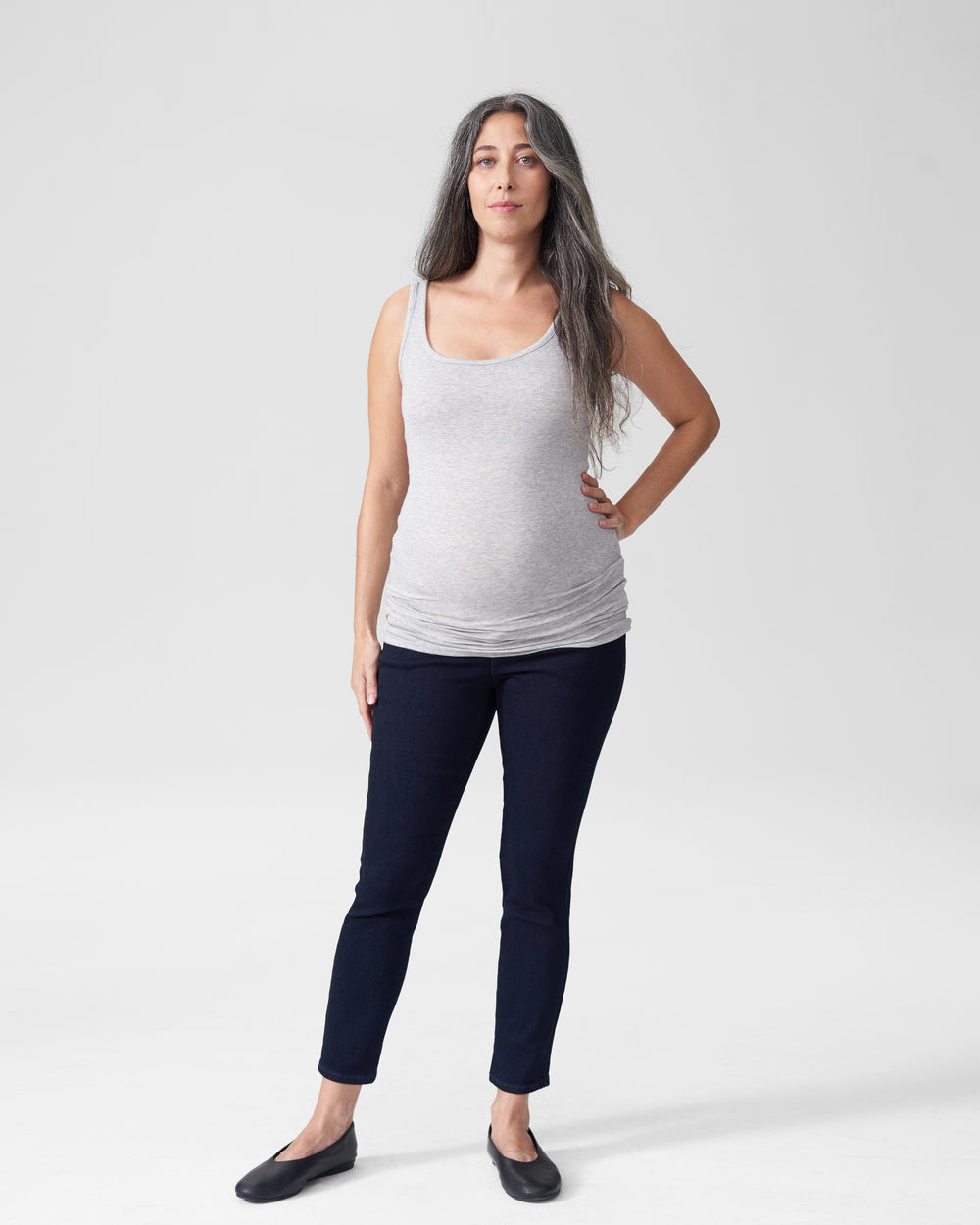 Foundation Tank Mom - Heather Grey