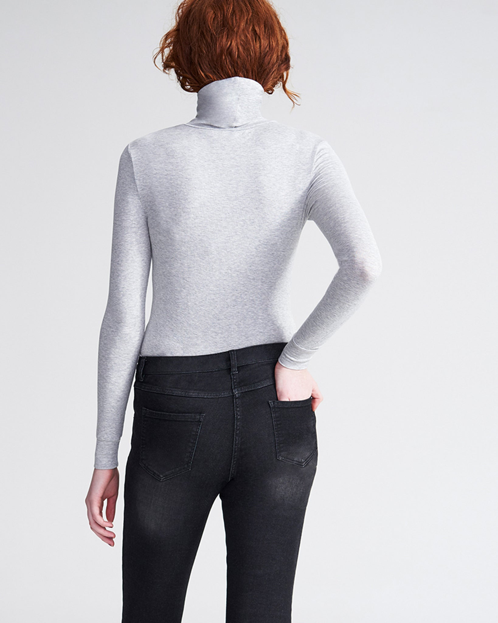 Foundation Turtleneck - Heather Grey
