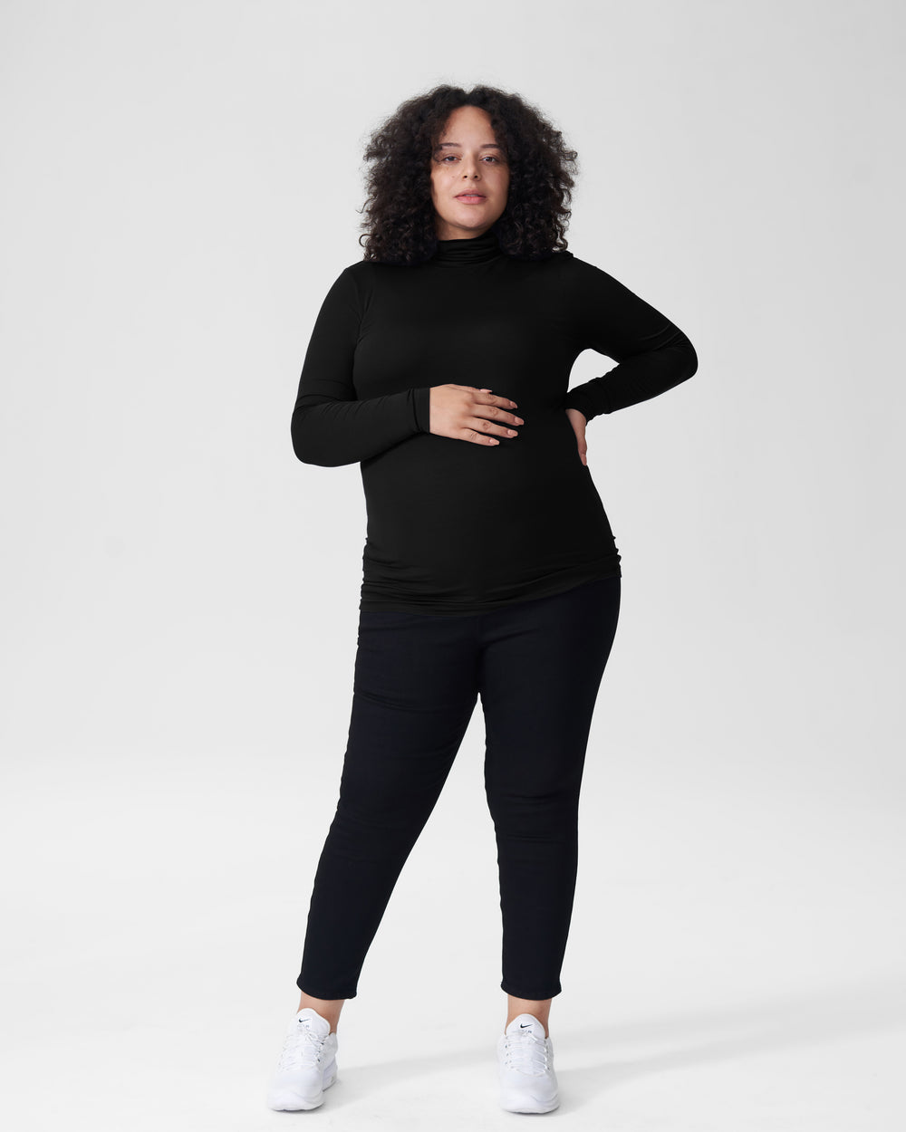 Foundation Turtleneck Mom - Black