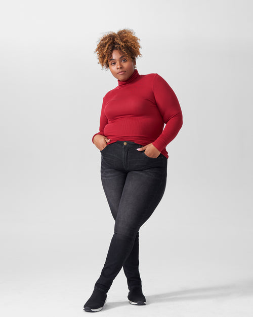 Foundation Turtleneck - Red Dahlia