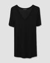 Foundation Short Sleeve V Neck Tee - Black Image Thumbnmail #2