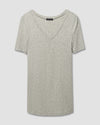 Foundation Short Sleeve V Neck Tee - Heather GreyImage #2