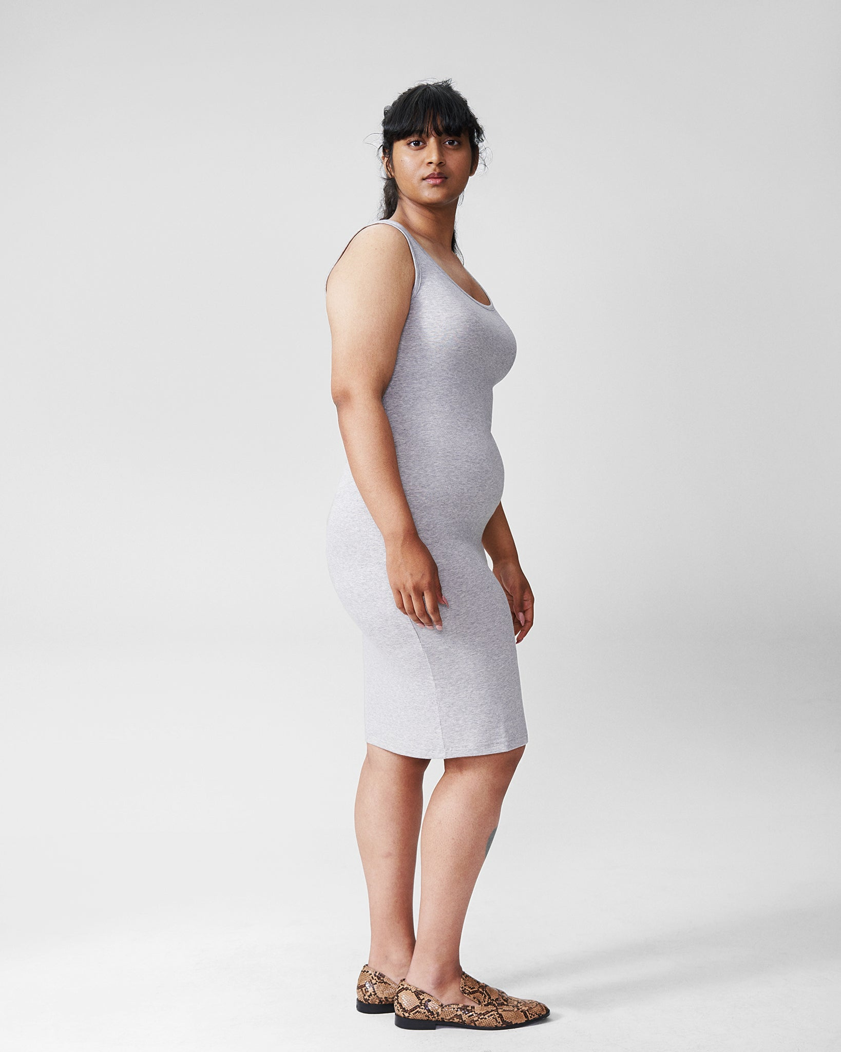 Foundation Tank Dress - Heather Grey