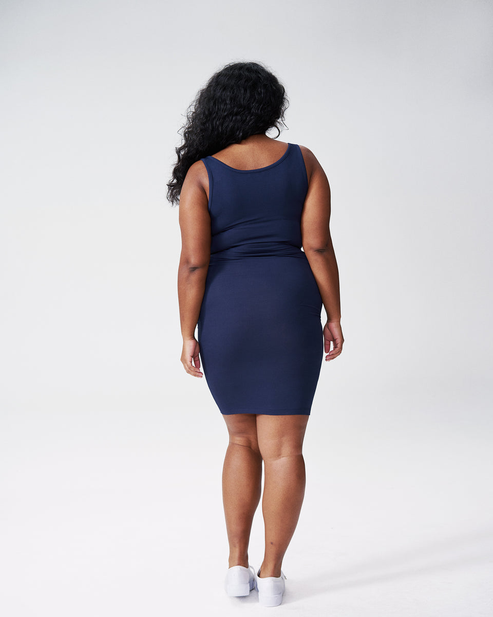 Foundation Tank Dress - Navy
