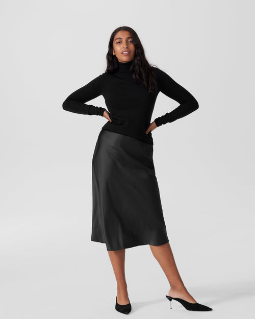 Maria Merino Wool Turtleneck - Black
