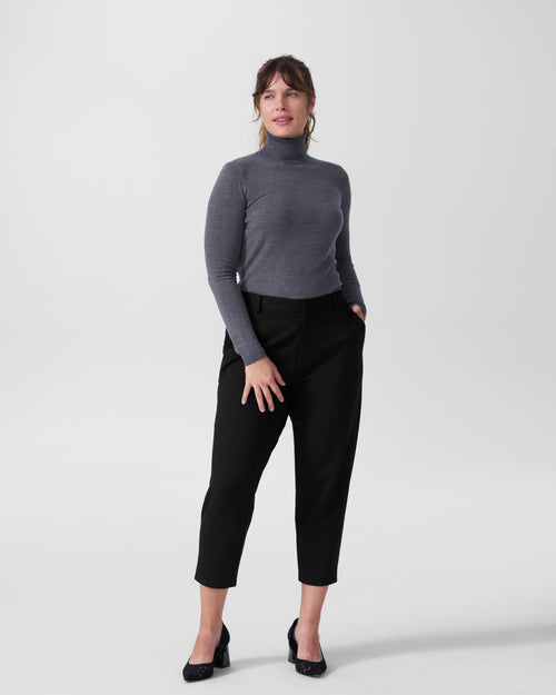 Maria Merino Wool Turtleneck - Slate