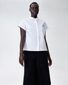 Aster Tuxedo Collar Shirt - White Image Thumbnmail #2