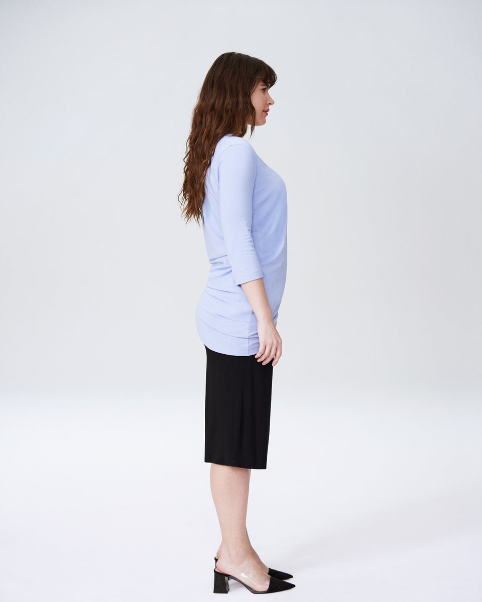 Genevette V Top - Periwinkle