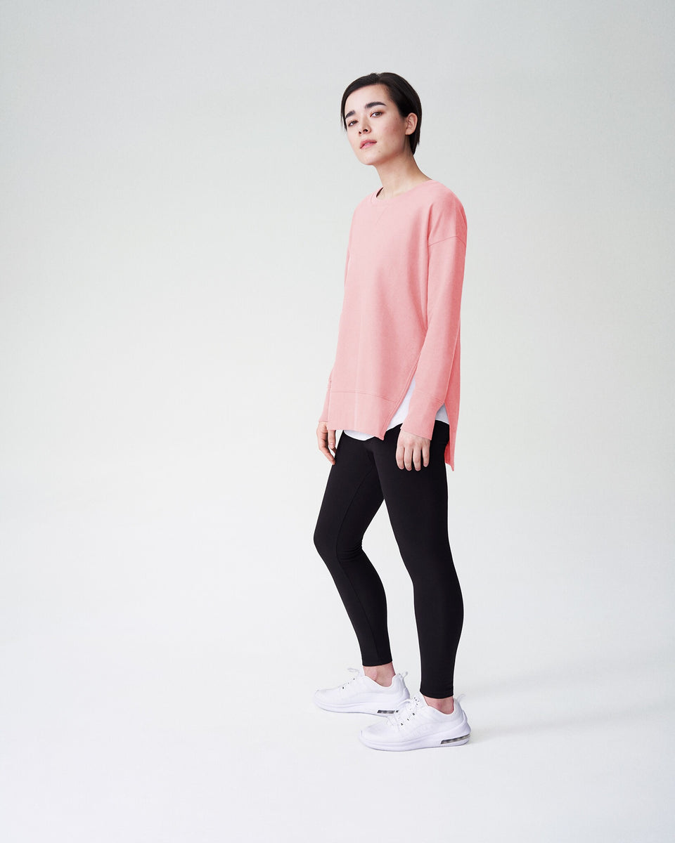 Fiona Open Side Sweatshirt - Rose
