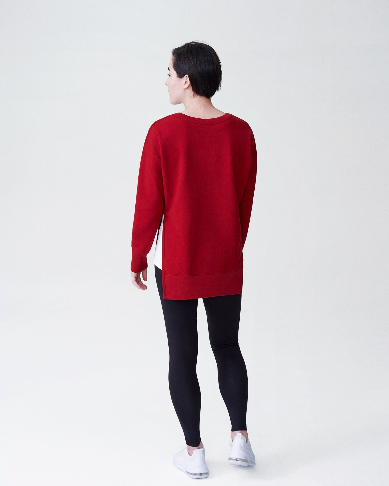 Fiona Open Side Sweatshirt - Red Dahlia