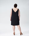 Jade V-Neck Shift Dress - Black Image Thumbnmail #4