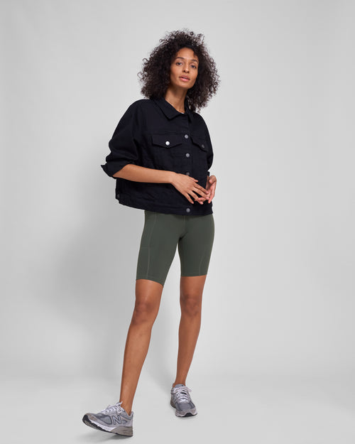 Knockout Bike Shorts - Ivy