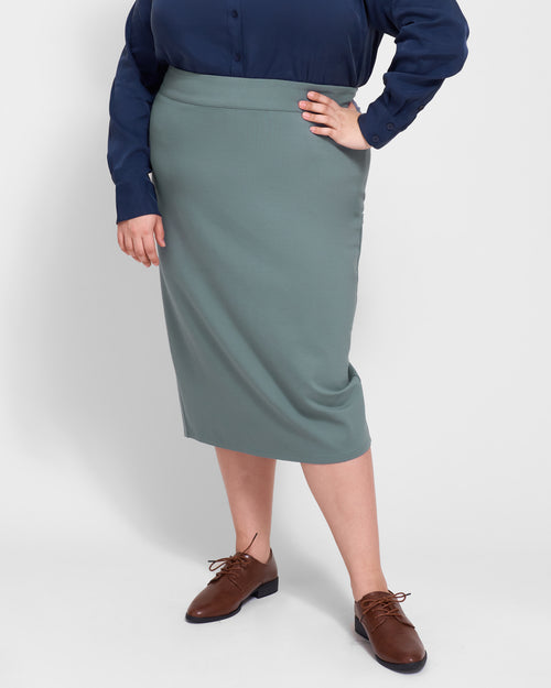Erin Ponte Pencil Skirt - Storm
