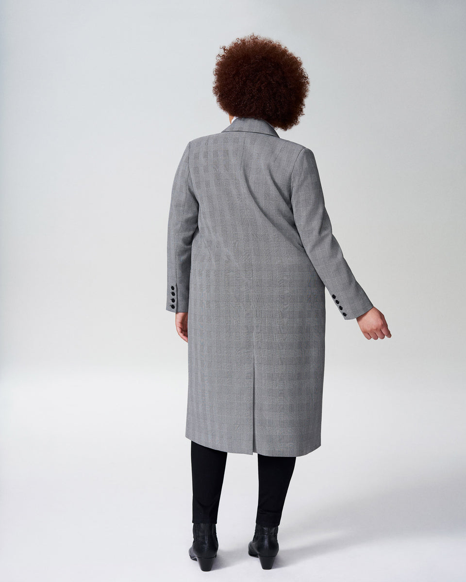 Morgan Coat - Grey Plaid