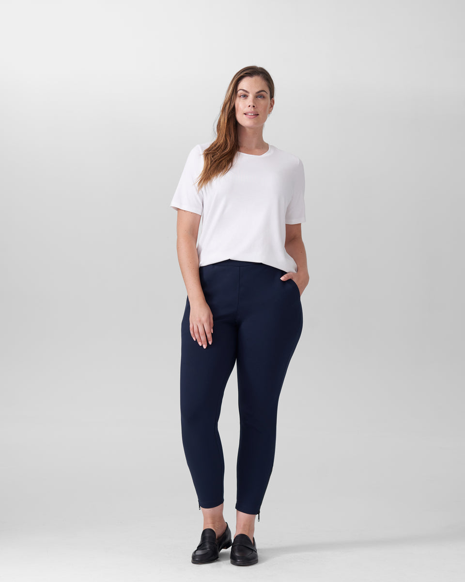 Moro Pocket Ponte Pants - Navy