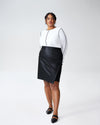 Mosman Leatherette Skirt - BlackImage #1
