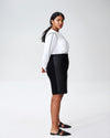 Mosman Leatherette Skirt - Black Image Thumbnmail #2