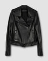 Leeron Leather Moto Jacket - Black Image Thumbnmail #1