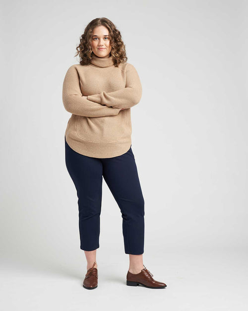 Francesca Turtleneck Sweater - Camel