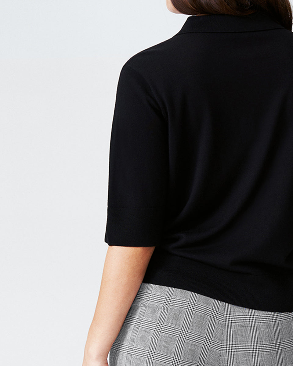 Addison Sweater Polo - Black
