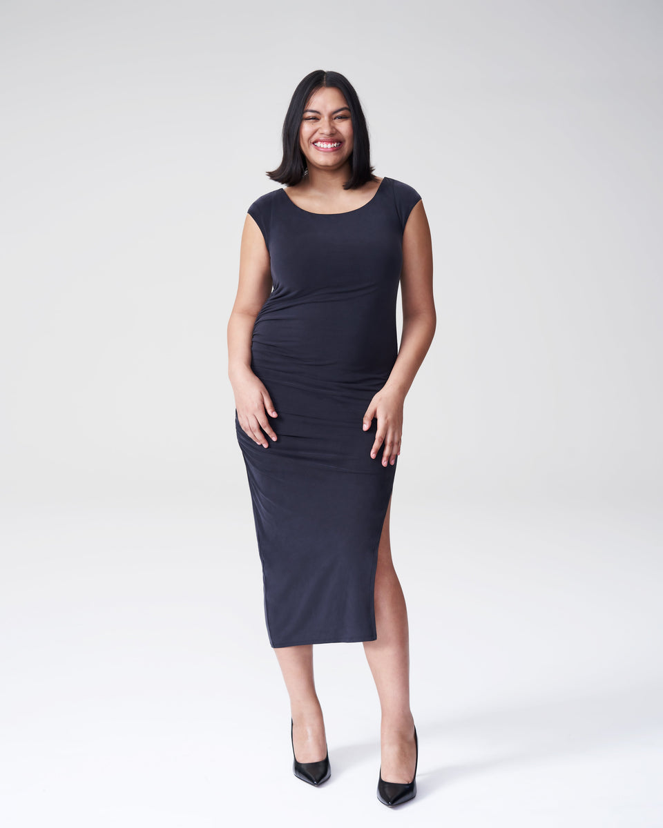 Rachel Ruched Dress - Black