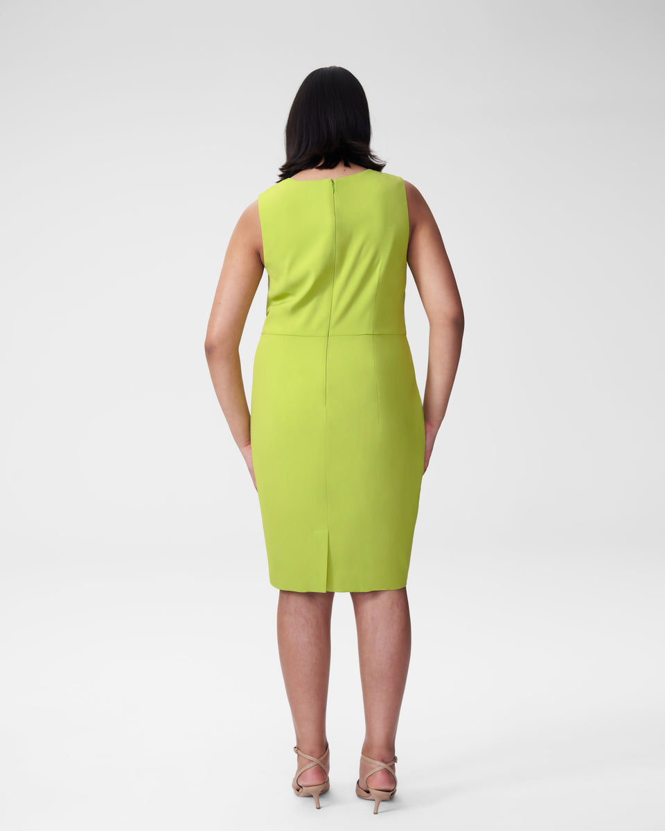 Raven V-Neck Dress - Lime