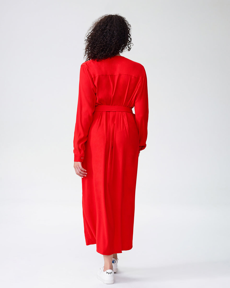 Rivers Wrap Dress - Poppy