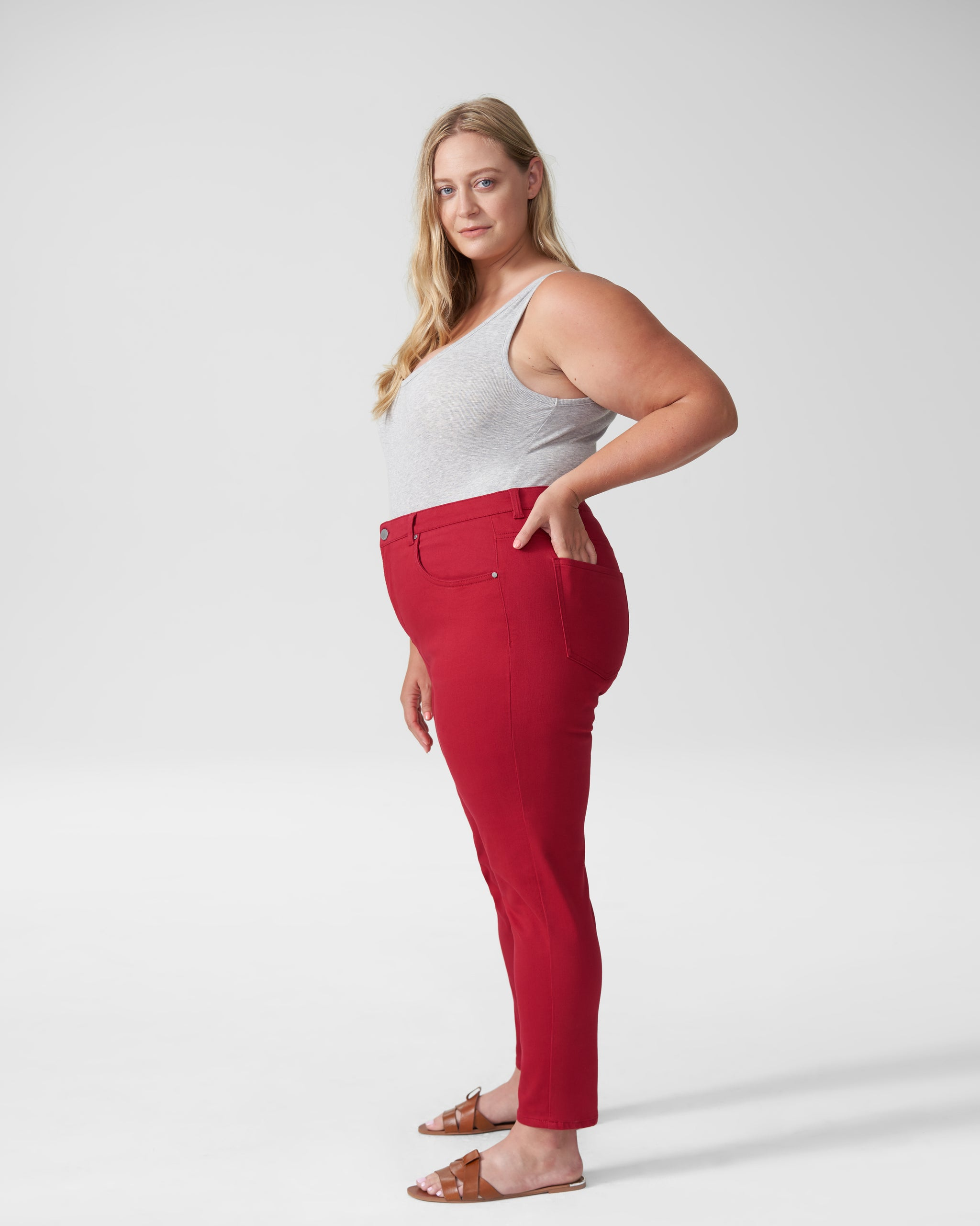 Seine High Rise Skinny Jeans 27 Inch - Red Dahlia