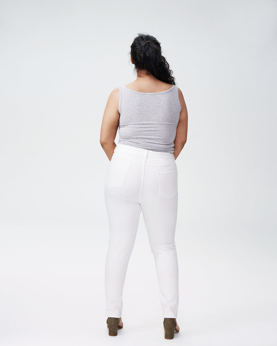 Seine High Rise Skinny Jeans 32 Inch - White