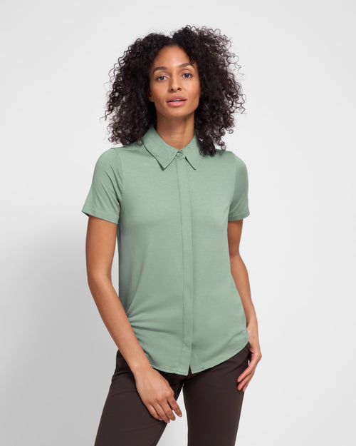 Ro Short Sleeve Knit Shirt - Mint