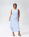 Katherine Side Tie Knot Dress - Periwinkle Image Thumbnmail #1